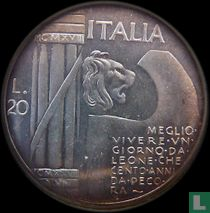"Italië 20 lire 1943 ""Mussolini"""