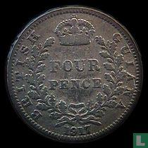 Brits Guiana 4 pence 1917