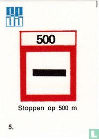 Stoppen op 500 m