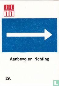 Aanbevolen richting