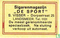 """Sigarenmagazijn """"De Sport"""" - S. Visser"""