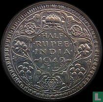 Brits Indië ½ rupee 1942 (klein hoofd)
