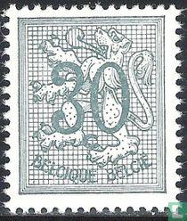 Cijfer op heraldieke leeuw