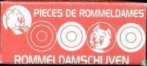 Doosje Rommeldamschijven rood