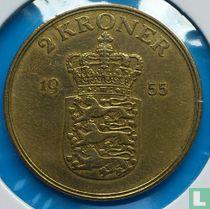 Denemarken 2 kroner 1955