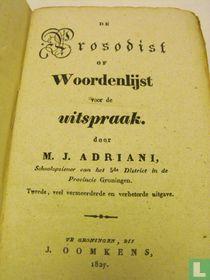 De prosodist of woordenlijst voor de uitspraak