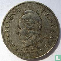 Frans-Polynesië 10 francs 1972