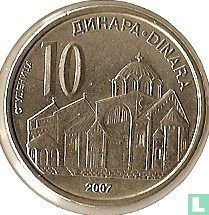 Servië 10 dinara 2007