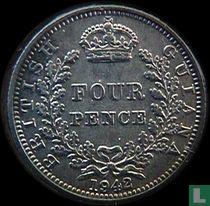 Brits Guiana 4 pence 1942