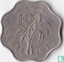 """Swaziland 10 cents 1975 """"FAO"""""""