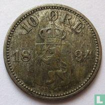 Norwegen 10 Øre 1894