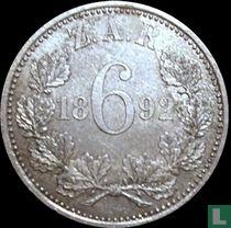 Afrique du Sud 6 pence 1892