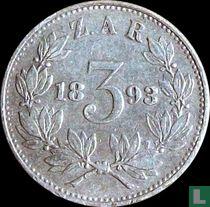Afrique du Sud 3 pence 1893
