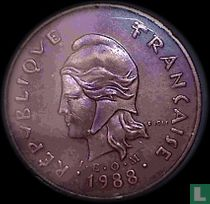 Frans-Polynesië 100 francs 1988
