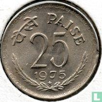 India 25 paise 1975 (Hyderabad)