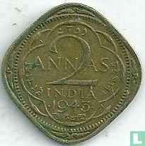 Brits-Indië 2 annas 1943