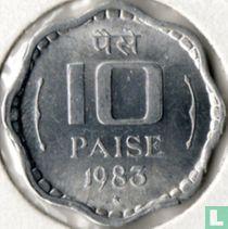 India 10 paise 1983 (Hyderabad)