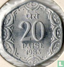 India 20 paise 1983 (Hyderabad)