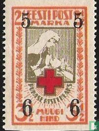 Roten Kreuzes, mit Aufdruck