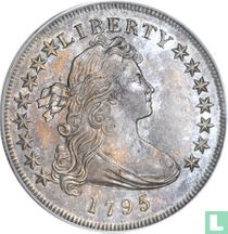 """United States 1795 """"bust off center"""""""