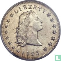 United States 1 dollar 1795 (flowing hair 3 leaves)