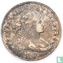 United States 1 dollar 1797 (9 + 7 stars, small letters)
