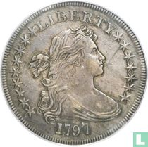 United States 1 dollar 1797 (9 + 7 stars, large letters)
