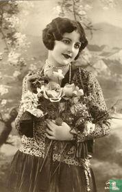 Jonge vrouw met bloemen