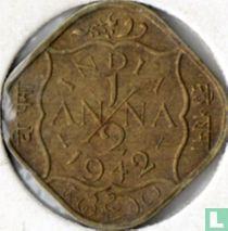 Brits-Indië ½ anna 1942 (INDIA)