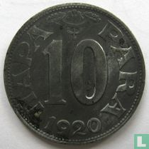 Joegoslavië 10 para 1920
