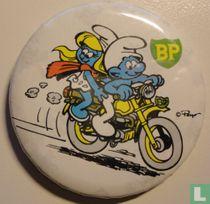 BP (Smurf en Smurfin op motorfiets)