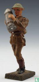 Artillerist met granaat