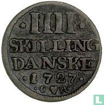 Denemarken 4 skilling 1727