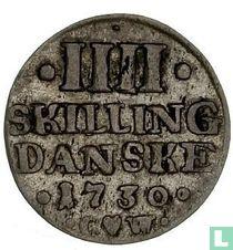 Denemarken 4 skilling 1730
