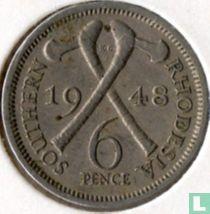Zuid-Rhodesië 6 pence 1948
