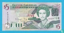 East Caribbean States 5 Dollars 2003 M