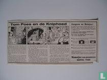 Reclame strip voor het boekje Tom Poes en de knip-hoed