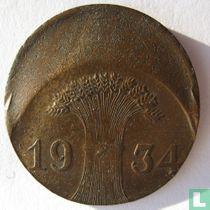 Duitse Rijk 1 reichspfennig 1934 (misslag)