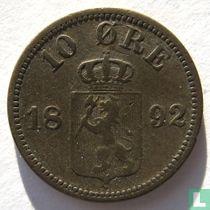 Norwegen 10 Øre 1892