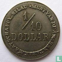 Nederlands-Indië 1/10 dollar 1902 Plantagegeld, Sumatra, Asahan Tabak maatschappij SILAU