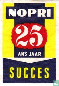 Nopri 25 ans jaar succes