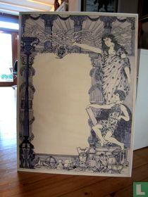 Edgar Pierre Jacobs-Originele tekening voor een affiche