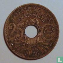 Frankrijk 25 centimes 1936