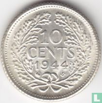 Nederland 10 cent 1944 S