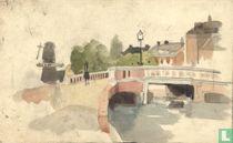 Adriaan de la Rivière (1857-1941) cityscape Rotterdam