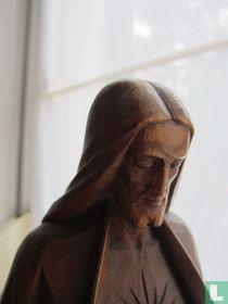 E. de Soil-Uit hout gesneden Art Deco-Jezus beeld