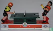 Tin ping/pong players. Mechanical toys