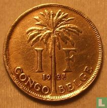 Belgisch-Kongo 1 franc 1923 (FRA)