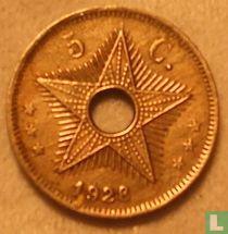 Belgian Congo 5 cent 1928