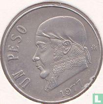 Mexico 1 peso 1977 (dunne datum)